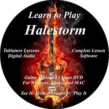 Halestorm Guitar TABS Lesson CD 44 Songs + Backing Tracks + BONUS!