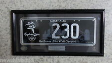 #ZZ. SYDNEY 2000 OLYMPIC LIMITED EDITION FRAMED NUMBER PLATE #230 of 250