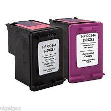 1 x HP 300XL Black + 1 X HP 300XL Colour Refilled Cartridges CC641EE CC642EE