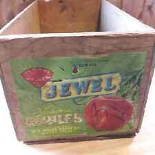 Primitive Looking Vintage Wood Apple Box Crate From Old-Time Farm Auction #20
