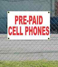 2x3 PRE-PAID CELL PHONES Red & White Banner Sign Discount Size & Price FREE SHIP