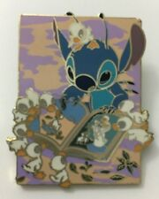 DISNEY STITCH READING WITH DUCKLINGS DISNEYLAND DLR RESORT PIN