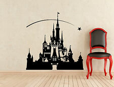 Disneyland Castle Wall Decal Nursery Vinyl Sticker Art Decoration Murals (326z)