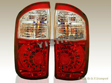 2004-2006 TOYOTA TUNDRA DOUBLE CAB RED CLEAR LED TAIL LIGHTS REAR LAMPS