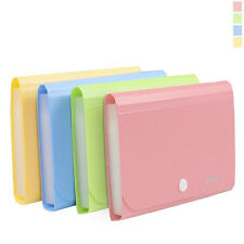 1Pc Plastic Candy Color Document Bag File Folder Expanding Wallet Bill Folder