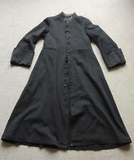 Vintage 19th siècle prêtres long laine steampunk goth frock coat