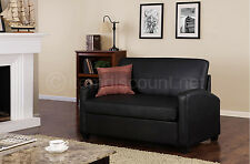 Small Sleeper Sofa Loveseat Twin Mattress Couch Convertible Pull Out Bed Leather