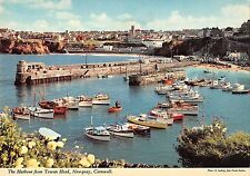 BR82789 the harbour from towan head newquay cornwall ship bateaux uk