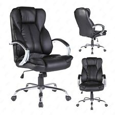 PU leather Highback Office Chair swivel Computer Chair foam seat in black