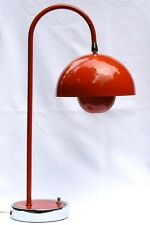 A modernistic 1960's desk lamp, with great form and color and Swivel Shade.