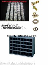 GRADE 8 FINE THREAD BOLT NUT & WASHER ASSORTMENT 1496 WITH A  METAL 40 HOLE  BIN