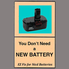 REVIVE-IT® guide+video, fix your RYOBI nicd battery 7.2 9.6 12 14.4 18v One+