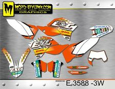 KTM EXC 125 200 250 300 450 530 2008 up to 2011 graphics decals kit Moto StyleMX