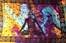 "Altar Cloth/Wicca/Pagan/Sarong/Tapestry/Scarf Tie Dye Seven Chakra 42""x68""SCV117"