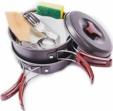 Stolevar 11 Piece Ultralight Camping Cookware Set, Hiking Utensils Mess Kit | -
