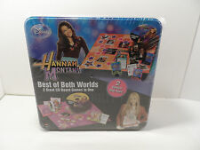 HANNAH MONTANA BEST OF BOTH WORLDS 2 CD BOARD GAMES TIN