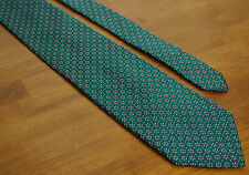 J. Crew Mens 100% Silk Neck Tie Green Floral Geometric Made in USA