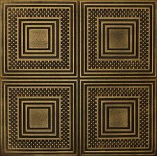 Decorative Ceiling Tiles Styrofoam 20x20 R11 Black Gold Painted