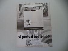 advertising Pubblicità 1977 LAVATRICE LA-ASCIUGA ZEROWATT LD 950