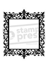 A7 'Damask-Style Frame' Unmounted Rubber Stamp (SP002364)