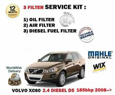 FOR VOLVO XC60 2.4D5 185bhp 2008-  OIL AIR FUEL FILTER SERVICE KIT *OE QUALITY*