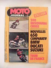 Moto Journal Octobre 1981 N°528 240 Husqvarna Cross 650 BMW Ducati Suzuki