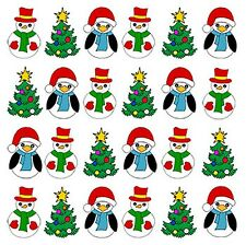 36 PRE-CUT CHRISTMAS MIX 1 EDIBLE WAFER PAPER CUP CAKE TOPPERS PARTY DECORATIONS