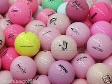 50 Mint Lady Solid Color Assorted Mix AAAAA Used Golf Balls