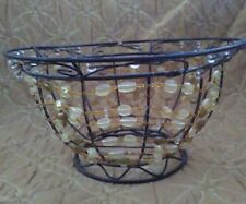 Decorative Metal Breaded Wire Bowl