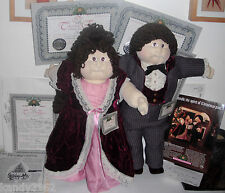 CPK Xavier Roberts Soft Scupture Christmas 86 Collectors Edition Hillary & Nigel
