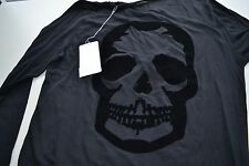 NEW AUTHENTIC Zadig & Voltaire Black Cotton Skull Top Small / X Small
