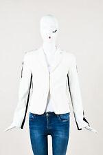 Akris Punto White Navy Colorblock Jacket SZ 4