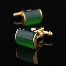 Gold+Green Mens Wedding Party Groom Gift shirt cufflinks cuff links