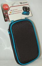 NEW Subsonic Nintendo 3DS DSI Soft 6x4 Zipper Bag Case BLACK & BLUE ds-lite dsl