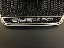 Quattro Kühler Grill Schriftzug 3D A1 A3 A4 A5 A6 A7 S1 S3 S4 S5 S6 RS