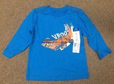 """okie dokie Boy's Blue """"Varooom!"""" Cotton Shirt - Size 12 Months - NEW"""