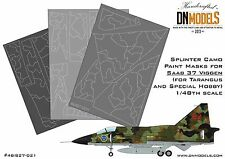 Saab 37 Viggen 1/48 Splinter Camo Paint Mask Set 1/48 for Tarangus/Special Hobb