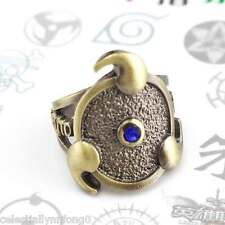 Naruto Uchiha Sasuke Three Magatama Sharingan Finger Ring Alloy Cosplay Necklace