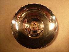 NEW EGYPTIAN STERLING SILVER .925 DISH WITH GREEK GOLD COIN CENTER