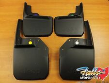 07-2017 Jeep Wrangler Front & Rear Deluxe Molded Splash Guards Mud Flaps Mopar