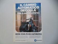 advertising Pubblicità 1983 VESPA PK 125 S AUTOMATICA