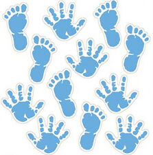 BABY BOY FOOT and HAND PRINTS wall stickers 12 decals nursery room decor newborn