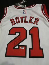 PSA/DNA JIMMY BUTLER #21 AUTOGRAPHED CHICAGO BULLS WHITE ADIDAS SWINGMAN JERSEY
