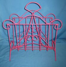 Cottage Style Pink Wire Coated Magazine Rack/Holder!