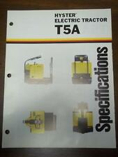 Hyster Lift Truck Brochure~Electric T5A Tractor~Catalog Insert 1975