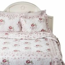 NEW RACHEL ASHWELL SIMPLY SHABBY CHIC VINTAGE MAYBERRY ROSE FLORAL TWIN QUILT