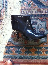 KATE KANZIER London Leather Lane Designer ANKLE Boots Black Patent £55 4 NEW