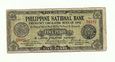 Philippines Emergency Guerrilla Currency Phil Nat Bank CS Ormoc Leyte - #222128