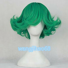 2016 New One Punch Man Anime Tornado of Terror Tatsumaki Cosplay Wig Green Hair