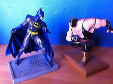 BATMAN vs BANE MODEL KIT MONTATI e COLORATI STATUE DC